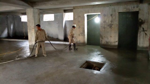Thi công chống thấm tầng hầm
